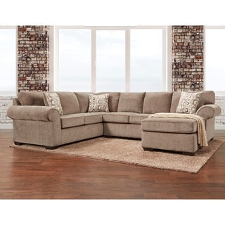 Porch & Den Chase Cobra Cocoa Sectional