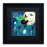 Lisa Powell Braun 'Halloween Witch' Matted Framed Art