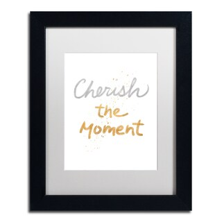 Lisa Powell Braun 'Cherish On White' Matted Framed Art