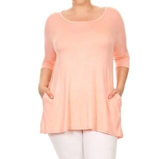 Women's Plus Size Peach Color Tunic