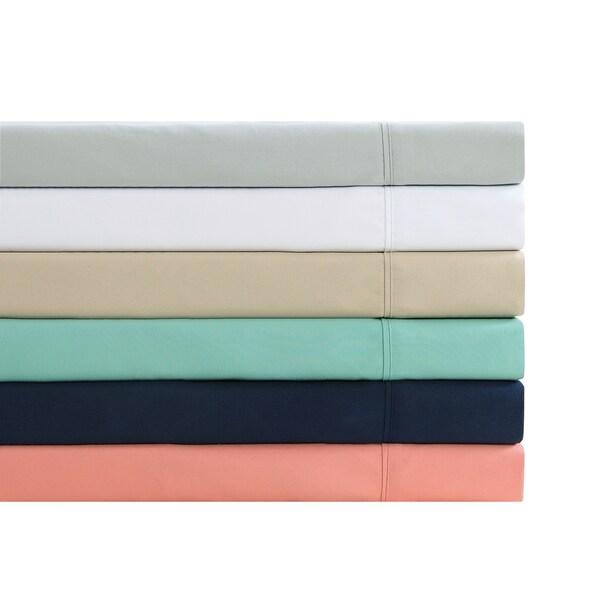 Oceanfront Resort 6 Piece Luxury Microfiber Solid Sheet Sets
