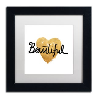 Lisa Powell Braun 'Beautiful On White' Matted Framed Art