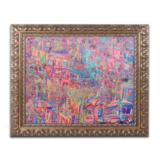 Josh Byer 'City' Ornate Framed Art