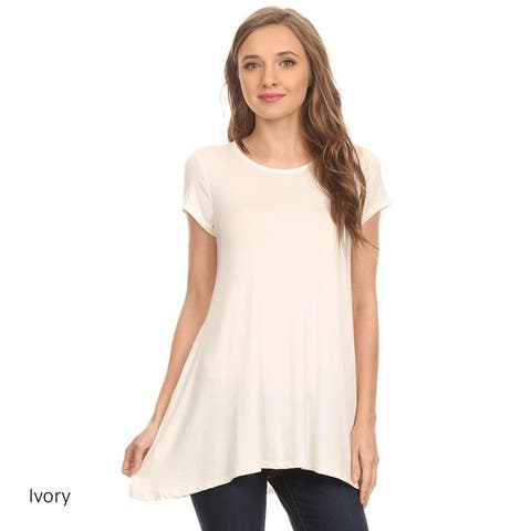 Women's Solid Pleated Tunic