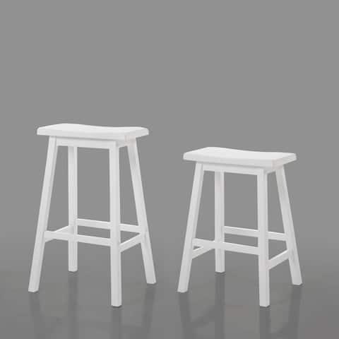 Acme Furniture White Gaucho Stool (Set of 2)