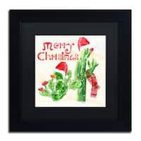 Lisa Powell Braun 'Xmas Cactus' Matted Framed Art