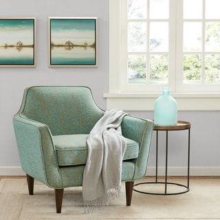Madison Park Taye Blue Green Mid Century Accent Chair