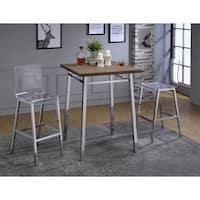 Acme Furniture Nadie Clear Acrylic/Chrome Bar Chairs (Set of 2)