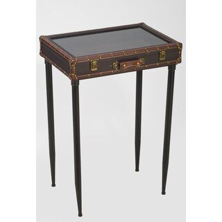 Glass Top Suitcase Display Table