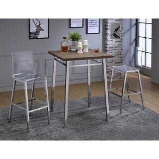 Acme Furniture Nadie Oak/Chrome Bar Table