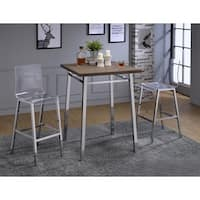 Acme Furniture Nadie Oak/Chrome Bar Table