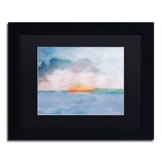 Lisa Powell Braun 'Sunset' Matted Framed Art