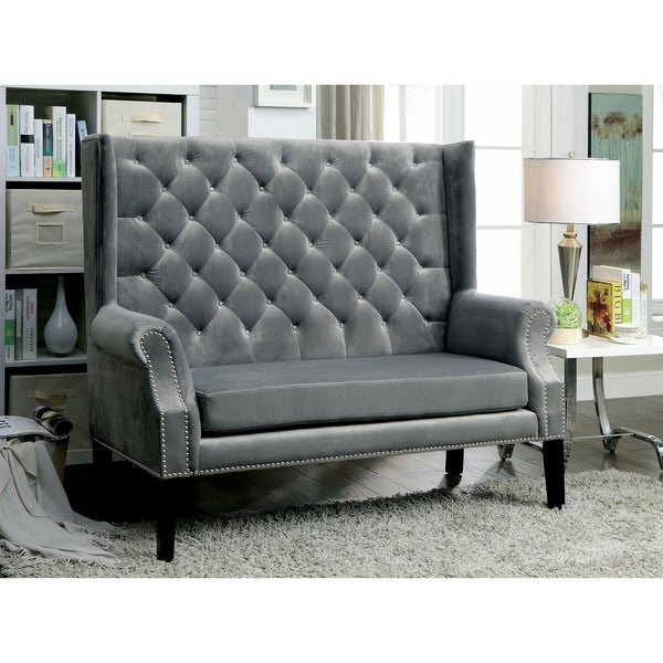 Furniture Of America Ellian Contemporary Loveseat Bench