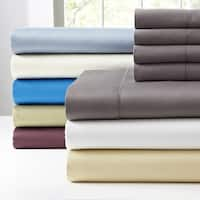 Pointehaven 410TC 6 pc Long Staple Cotton Deep Pocket Sheet Set with Bonus PC Pair