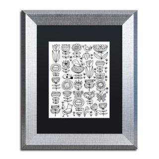 Elizabeth Caldwell 'Birds And Flowers' Matted Framed Art