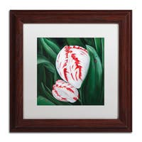 Lily van Bienen 'Mother and Child' Matted Framed Art - White