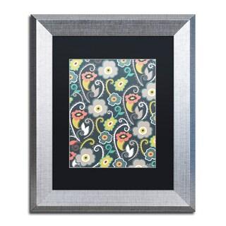 Elizabeth Caldwell 'Suzani Garden' Matted Framed Art