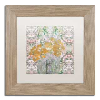 Lisa Powell Braun 'Floral Abstract' Matted Framed Art