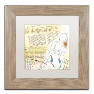 Lisa Powell Braun 'Figure' Matted Framed Art