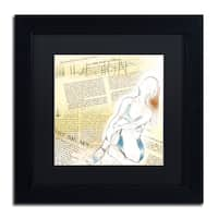 Lisa Powell Braun 'Figure' Matted Framed Art