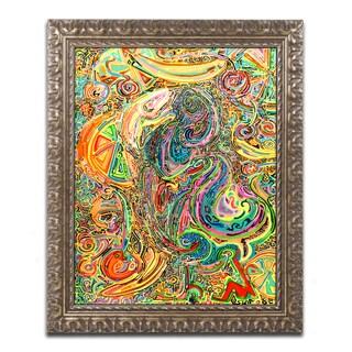 Josh Byer 'Polly Dreams Of Fruit' Ornate Framed Art
