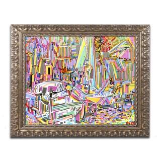 Josh Byer 'Boats' Ornate Framed Art