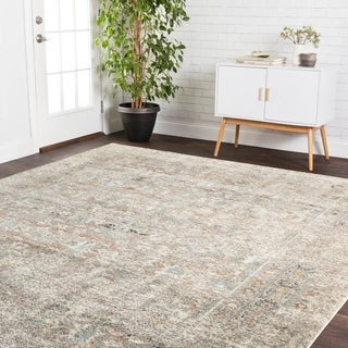 Transitional Bohemian Ivory/ Grey Multi Rug - 6'7 x 9'4