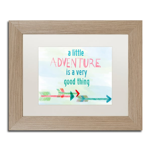 Lisa Powell Braun 'Adventure' Matted Framed Art