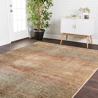 Transitional Bohemian Rust/ Grey Multi Rug - 6'7 x 9'4
