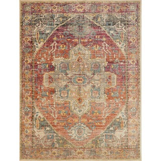"Genova Berry/ Sunrise Rug - 2'6"" x 4'"