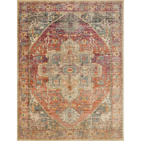 Genova Berry/ Sunrise Rug - 2'6 x 4'