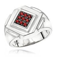 Luxurman 14k White, Rose or Yellow Gold Ruby Men's Ring