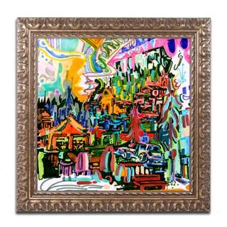 Josh Byer 'A Nice Place To Live' Ornate Framed Art
