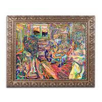 Josh Byer 'His Wife, Her Mother' Ornate Framed Art