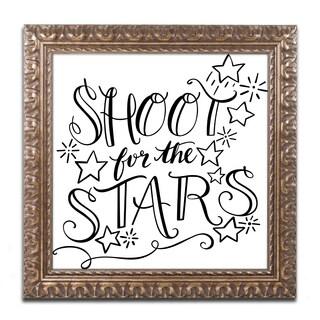 Elizabeth Caldwell 'Shoot For the Stars' Ornate Framed Art