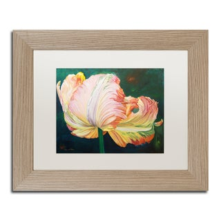 Lily van Bienen 'A Flaming Parrot Tulip' Matted Framed Art