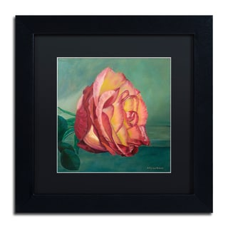 Lily van Bienen 'A Rose is a Rose 2' Matted Framed Art