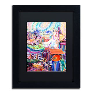 Josh Byer 'Poppycock' Matted Framed Art