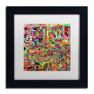 Josh Byer 'Fights' Matted Framed Art