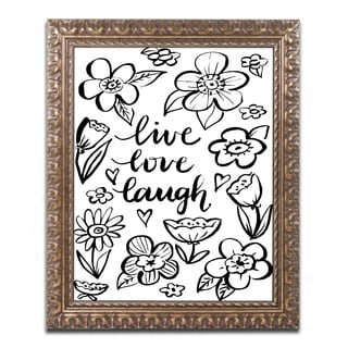 Elizabeth Caldwell 'Live Love Laugh' Ornate Framed Art
