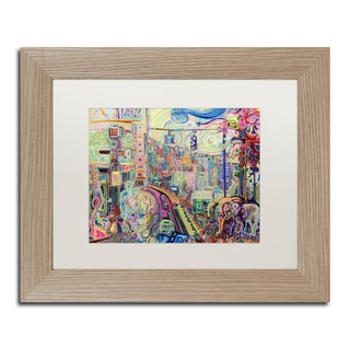 Josh Byer 'The Cub and the Calf' Matted Framed Art