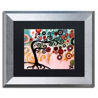 Natasha Wescoat '138' Matted Framed Art - Black