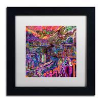 Josh Byer 'Hobo' Matted Framed Art - Multi