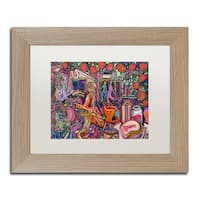 Josh Byer 'Strawberry Jam' Matted Framed Art - Black