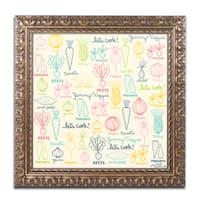 Elizabeth Caldwell 'Yummy Veggies' Ornate Framed Art