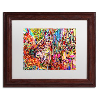 Josh Byer 'Awe Rides A Burning Steed' Matted Framed Art