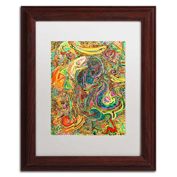 Josh Byer 'Polly Dreams Of Fruit' Matted Framed Art