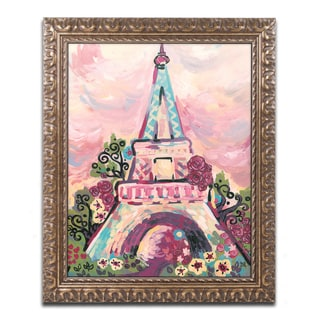 Natasha Wescoat 'Lumiere De La Ville' Ornate Framed Art