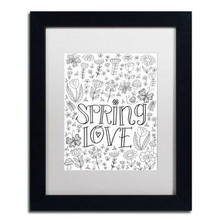 Elizabeth Caldwell 'Spring Love' Matted Framed Art