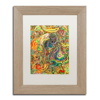 Josh Byer 'Polly Dreams Of Fruit' Matted Framed Art